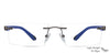 Lenskart Air Gunmetal Rectangle Eyeglasses - 122930