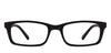 VC Black Rectangle Eyeglasses - 119236