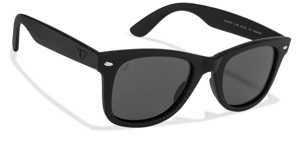 Polarized Sunglasses-Wayfarer-Black-SG