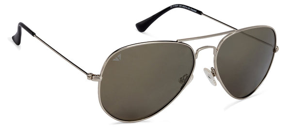 Vincent Chase Polarized Silver Sunglasses 130233