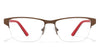 VC Brown Rectangle Eyeglasses - 117985