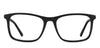 VC Black Rectangle Eyeglasses - 118180