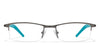 VC Gunmetal Rectangle Eyeglasses - 119712