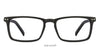 VC Black Rectangle Eyeglasses - 121903