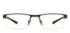VC Black Rectangle Eyeglasses - 126400