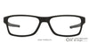 Lenskart Air Matte Black Rectangle Eyeglasses - 126467