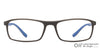 Matte Grey Blue Full Rim Rectangle Lenskart Air LA Classic VC E11274-C4