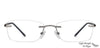 Lenskart Air Gunmetal Rectangle Eyeglasses - 128638