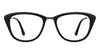 VC Black Gunmetal Cat Eye Eyeglasses - 128986