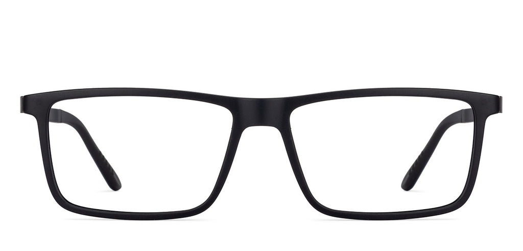 Magnetic Clip On Glasses-Rectangle-Black-EG