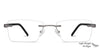 Lenskart Air Gunmetal Rectangle Eyeglasses - 129883