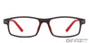 Matte Grey Red Full Rim Rectangle Lenskart Air LA Classic VC E11493-C2