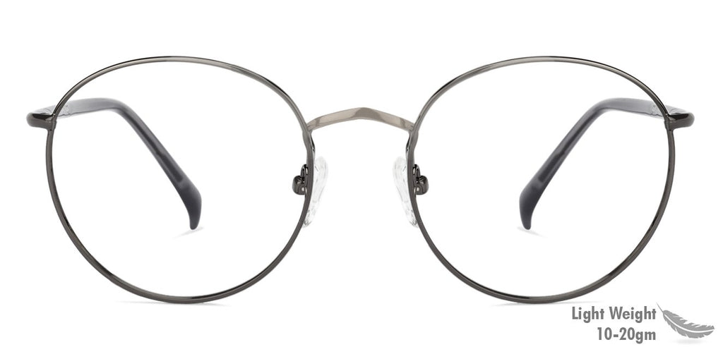 Eyeglasses For Women-Round-Gunmetal-EG