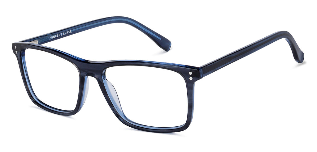 Blue Light Blocking Eyeglasses-Rectangle-Blue-EG
