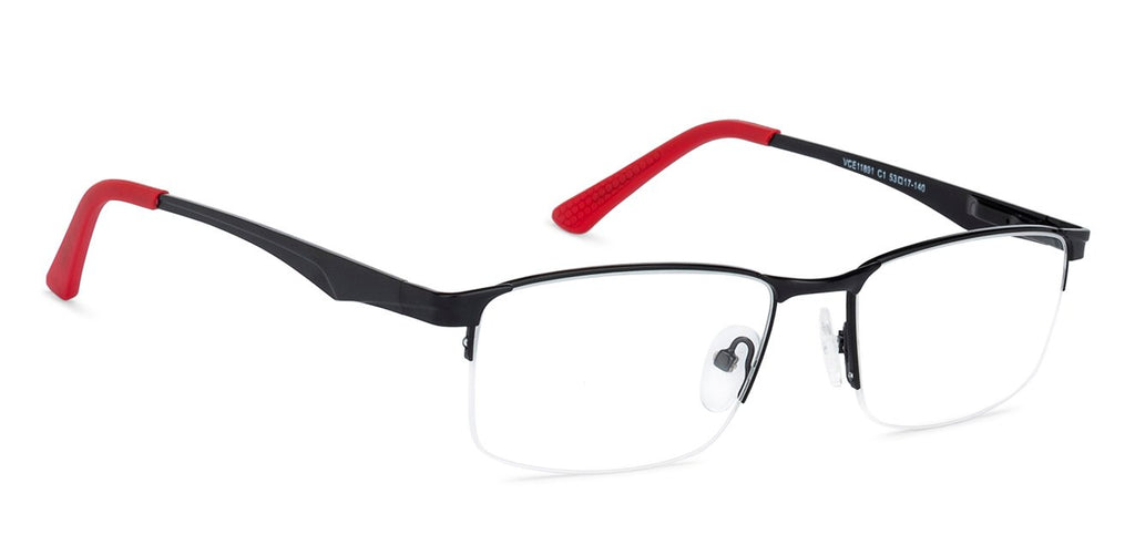 Vincent Chase Eyeglasses-Rectangle-Black-EG