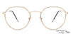 Vincent Chase Golden Eyeglasses 134920