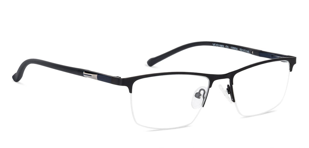 Rectangle Eyeglasses-Rectangle-Black-EG