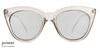 Grey Transparent Silver Mirror Full Rim Cat Eye Vincent Chase Online Kitty Perry VC S10770-C2