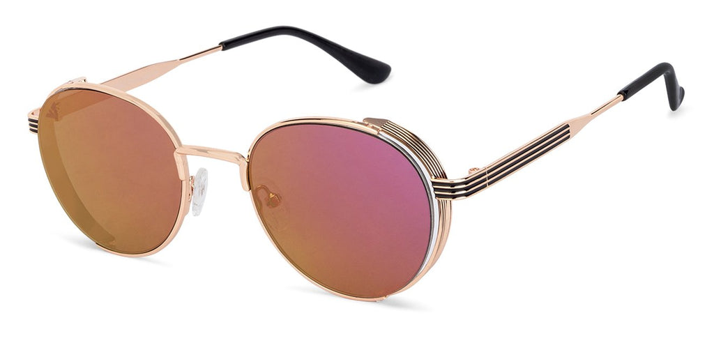 Vincent Chase Sunglasses-Round-Golden-SG