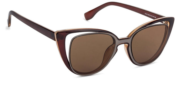 VC Brown Cat Eye Sunglasses - 130108