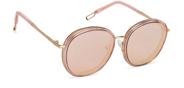 VC Pink Golden Round Sunglasses - 130124