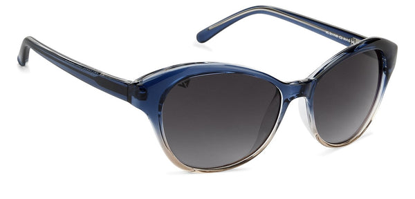 VC Blue Brown Transparent Cat Eye Sunglasses - 131338