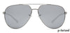 Vincent Chase Polarized Silver Sunglasses 131370