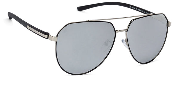 Vincent Chase Polarized Silver Sunglasses 131375