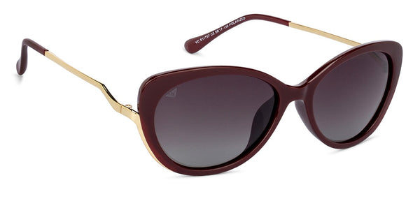 Vincent Chase Polarized Maroon Sunglasses 131382
