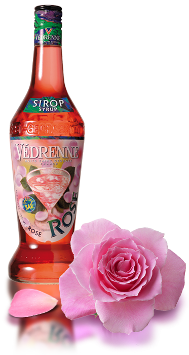 Sirop Rose Vedrenne 70cl - Pack de 6