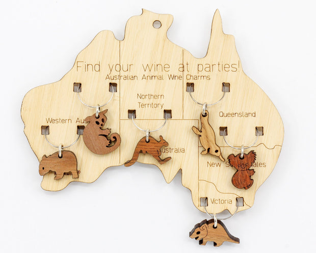 Wine Charms Aussie Animals