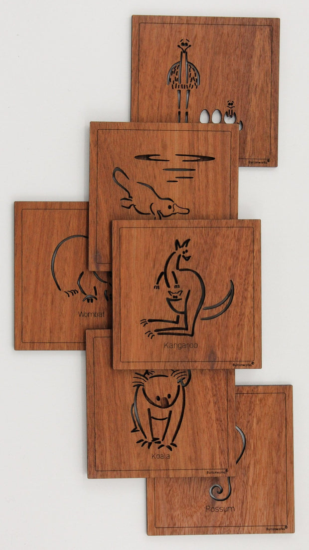 Square Animal Coasters