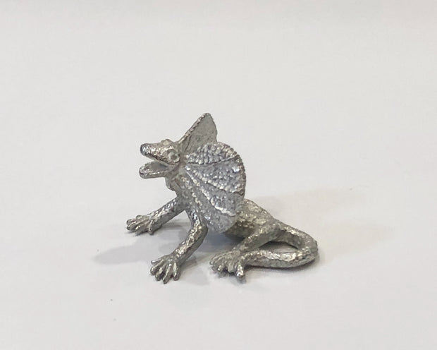 Pewter Frilled neck lizard
