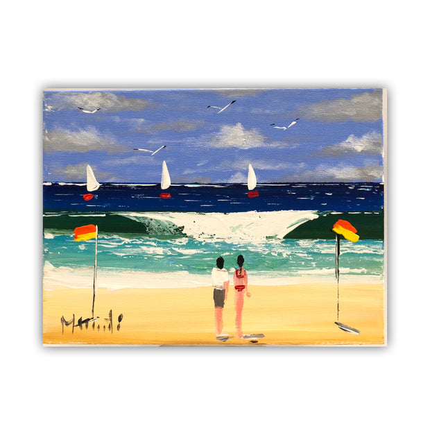 Painting.  'The beach'