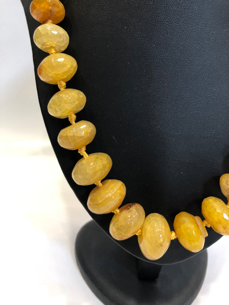 Necklace Yellow agate