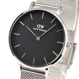 DANIEL WELLINGTON CLASSIC PETITE STERLING BLACK