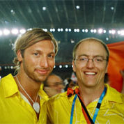 Mark Alexander and Ian Thorpe