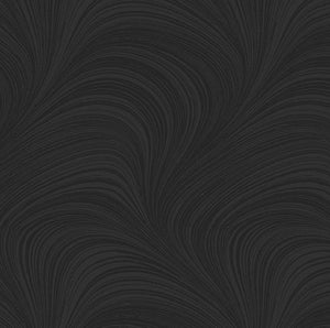 "Backing - Bernatex wideback- Waves 108"" wide - Black"