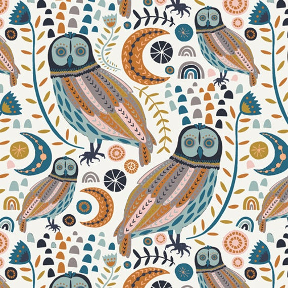 Art Gallery Fabric - Little Forester Fusion - Sova Forester