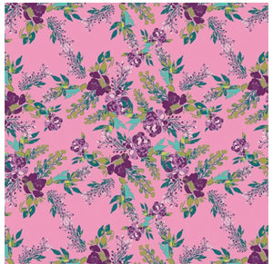 Art Gallery Fabric - Virtuosa - by Bari J - Episodic Blooms Rosa