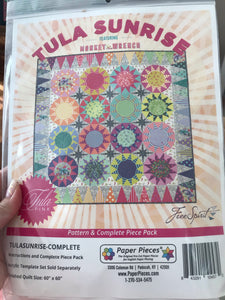 Paper Pieces - Tula Sunrise - includes pattern and all papers