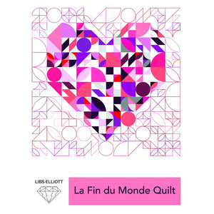Paper Pieces - Acrylic templates - Medium sized  - La Fin du Monde Quilt