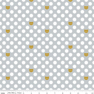 Chloe & Friends -Cat Dot Gray Sparkle for Riley Blake Designs