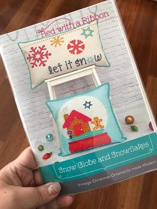 Snowglobe and Snowflakes Pillow Set Paper Pattern -  by Tied With a Ribbon - My Fabricology