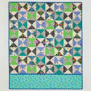 Hop, Skip Jump quilt  paper pattern by Tied with a Ribbon