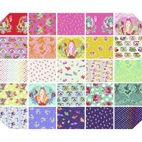 Pre-order Tula Pink - Curiouser & Curiouser  - 25 Fat quarters - My Fabricology