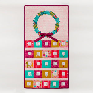 Tied With a Ribbon -Christmas Cheer Advent Calendar Paper Pattern plus linen panel