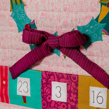 Load image into Gallery viewer, Tied With a Ribbon -Christmas Cheer Advent Calendar Paper Pattern plus linen panel