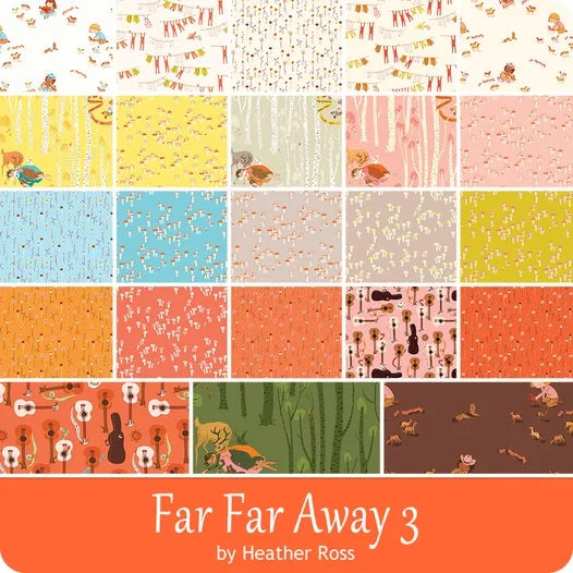Pre-order -Far Far Away 3 Half Metre bundle by Heather Ross For Windham Fabrics due October 2021