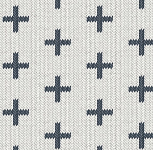 Art Gallery Fabric- Hooked- Chain Stitch Crosses by Mister Domestic
